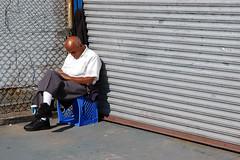 old man sleeping - by limonada