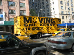 Moving? Neck problems? Call Kenny (dM.nyc) Tags: nyc newyorkcity k sign yellow truck advertising logo moving manhattan ad bad advertisement upperwestside van kenny mover roseannetookthis img2473jpg nyca2z