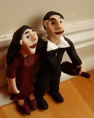 Maggie and Justin (0olong) Tags: wedding sculpture couple fimo human figurines sculpey commission voodoodolls cermicaplstica fergusraymurray 0olong