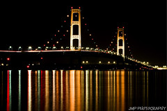 Mackinac Bridge (James Marvin Phelps) Tags: city bridge lake photography michigan great lakemichigan huron lakehuron mackinacbridge mackinaw straitsofmackinac mandj98 scenicmichigan frhwofavs mackinawcitymichigan jmpphotography jamesmarvinphelps virtualjourney mackinacbridgeatnight