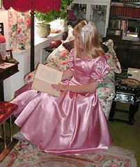 Bridesmaid (juli9311) Tags: bridesmaid satin crossdresser