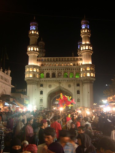 Charminar in all its glory at night