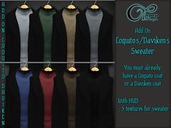 "Add-On ""Coquito&Daviken V#1"" (..:: OPOPOP Design ::..) Tags: opopop design coquito daviken addon add on mesh coat"
