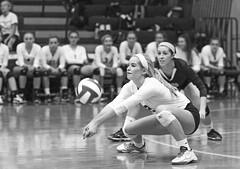 IMG_8305 (SJH Foto) Tags: girls volleyball high school york delone catholic team teen teenager black white blackandwhite bw monocolour dig bump burst mode action shot favourite