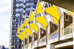 c u b e (maximedevreese) Tags: building architecture rotterdam cube yellow kijkkubus markthal city
