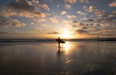 The Last Surf (DaneGardner) Tags: dorset bournemouth boscombe cloudsstormssunsetssunrises beach sea