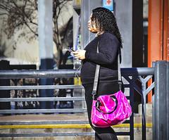 PINK (panache2620) Tags: pink purse minneapolis minnesota woman female color bright vivid bold eos canon urban city candid photojournalism documentary