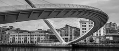 The Millennium Bridge, Gateshead, Newcastle upon Tyne, Tyne and Wear, North East England, UK. . . (CWhatPhotos) Tags: cwhatphotos gateshead olympus em5 mk ii micro four thirds camera bodycap body cap fisheye fish eye lens 9mm photographs photograph pics pictures pic picture image images foto fotos photography artistic that have which contain newcastle upon tyne river bythe north east england uk bridge span crossing millennium blue water host city day skies thebaltic baltic buildings clouds wide angle tilt tilting reflection reflections
