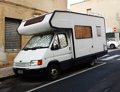 Ford Transit (1987) (maximilian91) Tags: fordtransit ford oldcampervans vintagecampervans germancampervans italia italy sardegna sardinia cagliari