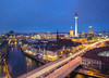Berlin Skyline (northcountrygirl) Tags: berlin germany mitte city lightstream lighttrail sigma1020 canon60d spree river fischerinsel bluehour twilight berlinerdom fernsehturm