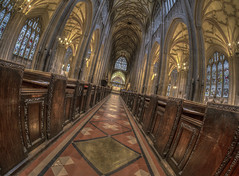 Quiet Moments (Wizard CG) Tags: st mary redcliffe church bristol england uk hdr samsung fisheye lens gothic architecture grade i listed building stained glass anglican parish epl7 ngc world trekker micro four thirds 43 aisle hall mosaic vault ceiling wood room people