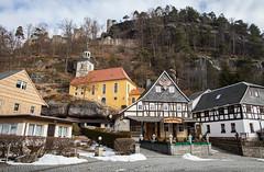 Bergkirche & Burg und Kloster Oybin (Wolfgang Krausse) Tags: kirche church iglesia burg ruine fachwerkhaus