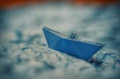 Stormy Sea Blues (Song). Macro Mondays - The Blues (frankvanroon) Tags: macromondays theblues song stormyseablues hdr macro paper dof