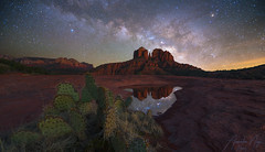 Peace and Serenity (Arwinder Nagi) Tags: arizona cactus sky clouds stars galaxy night milkyway southwest cathedralrock sedona desert nagiphotography shootingnomads