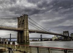 The Brooklyn Bridge (C@mera M@n) Tags: bridge brooklynbridge city clouds harbor manhattan manhattanbridge ny nyc newyork newyorkcity newyorkphotography place places sky urban water bridges outdoors