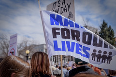 00  march for our lives-37 (mychannelmj) Tags: d7200 mychannelmj nikon tamron dslr digital dx noflash flashoff louisville colorado outdoor natural sunlight daytime bokeh fun youth cool people group crowd marchforourlives denver 2018 enough protest