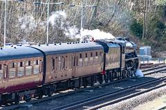 45212 Winchfield 05 April 2016 (12) (BaggieWeave) Tags: winchfield hampshire southwestmainline lswr black5 blackfive 45212 460 cathedralsexpress steam steamengine steamlocomotive steamtrain