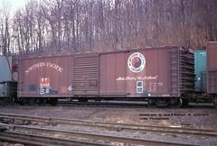 NP 31422, 50' box, Enola, PA. 3-03-1979 (jackdk) Tags: railroad railway railroadcar freightcar box boxcar np northernpacific 50 50foot 50footboxcar 1000000railcars fallenflag