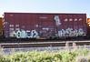 (o texano) Tags: houston texas graffiti trains freights bench benching soner human a2m adikts wh sws