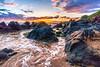 Wailea Sunset-3739.jpg (BER Photos 76) Tags: beach rocks shoreline lakemichigan coastline sunrise sunset ocean wailea golden sky illinois sony a6000 hawaii pacific clouds
