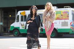 A couple of women crossing 72nd Street along 5th Avenue. (kevinrubin) Tags: newyorkcity street streetphotography nyc newyork unitedstates us