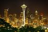Seattle, Washington: Skyline From Kerry Park (rocinante11) Tags: seattle washington kerrypark spaceneedle downtown skyline skyscrapers canoneos30d night ambient ambientlight longexposure timedexposure