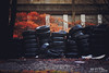 Slicks (Hi-Fi Fotos) Tags: wet tires piles stacks trash dump rubbish blight ugly rain garbage rubber nikkor 50mm 14 nikon d7200 dx hififotos hallewell
