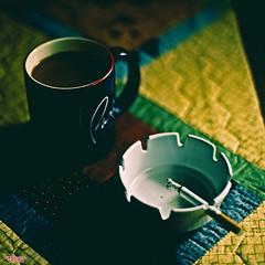 Coffee and Cigarettes (MBates Foto) Tags: ambientlight ashtray availablelight bokeh cigarettes coffee color cup daylight existinglight foodandbeverage indoors mug nikkorlens nikon nikond810 nikonfx table vividcolors spokane washington unitedstates 99203