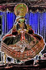 India - Kerala - Fort Cochin - Kathakali Dancer - 207dd (asienman) Tags: india kerala fortkochi kathakalidancer asienmanphotography asienmanphotoart stylizedclassicalindiandancedrama krishnanattamdancedrama lordkrishna adaptionof12thcenturymusicalgitagovindam