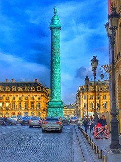 Paris  France - The Place de la Bastille -  Prison Stood Here