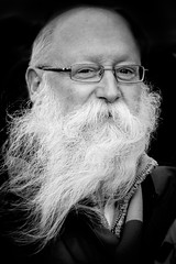 A Man And His Beard. (James- Burke) Tags: beards character portrait stpatricksdayparade man merseyside liverpool