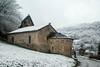 Saint-Sernin de Soueix (Ariège) (PierreG_09) Tags: ariège pyrénées pirineos couserans neige hiver village chapelle église clocher saintsenin soueixrogalle roman mh
