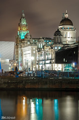 Pier Head from The Albert Dock (Bob Edwards Photography - Picture Liverpool) Tags: pierhead royalliver cunard portofliverpool ferry ships cruiseterminal bobedwardsphotography buildings architecture liverpool merseyside
