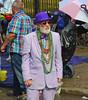 The Man in Purple (BKHagar *Kim*) Tags: bkhagar mardigras neworleans nola la parade celebration people crowd beads outdoor street napoleon uptown purple man suit hat