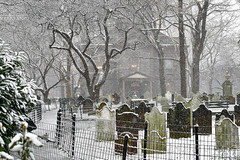 Manhattan Graveyard (JERRY TAHA PHOTOGRAPHY) Tags: newyork manhattan stpaulschapel trinitychurchwallstreet trinitychurch wallstreet graveyard cemetery death dead tombstone jerrytahatravel jerrytahaproductions travel worldtravel nyc ny us usa unitedstates america traveling snow winter