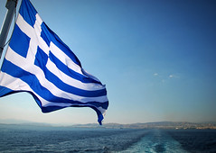 And the trip goes on in calm or rough seas. Happy birthday Greece! (jimiliop) Tags: greece blue sea sailing independence day history flag waving peace liberty