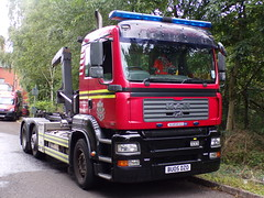 5931 - WMFS - BU05 DZO - 101_0059 (Call the Cops 999) Tags: uk gb united kingdom great britain england vehicle vehicles 999 112 emergency service services west midlands wmfs fire open day man pu05 dzo prime mover marshall sv special brierley hill community station 26 august 2017