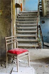 In a Pripyat School (Aad P.) Tags: chernobyl чорнобиль pripyat припять ukraine україна sovietunion cccp nuclearpowerplant radioactivity radiation urbex urbexphotography exclusionzone school stairs chair