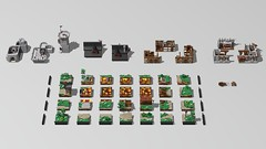 The Guarded Inn (Philosophical Bricks) Tags: lego commission instructions tudor inn fort fortification modular medieval knights
