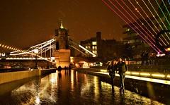 Winter magic (luthomas) Tags: towerbridge london unitedkingdom uk nightshot nightphotography citylights snow storm snowstorm centrallondon turisticsite citynights londonnight nightlife