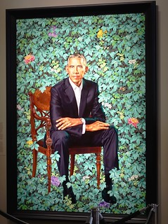 Kehinde Wiley's Portrait of Barack Obama at the National Portrait Gallery, Washington, D.C.