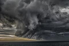 Top Shelf (rosiebondi) Tags: storm sky cloud clouds ocean sea nature weather rain coast