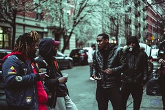 The crew !! (Glass_rabbithole) Tags: crew gang nyc hiphop trapmusic creatives create chat outside outandabout harlem helios russian canon vintagelens