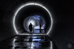 Brushing on the Light in a Tunnel (superdavebrem77) Tags: silhouette tunnel longexposure mystery
