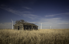Little House (jdnelms62) Tags: texas ruraltexas farm abandoned abandonedhomes field windfarms turbines