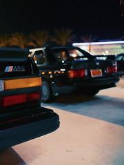 M Pair (ahh.photo) Tags: car classic cinematic bmw m5 m3 e30 e28 night neon lights fujifilm