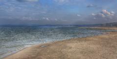 Over the sea (Roman_P2013) Tags: poland polska ustka beach sand nice landscape best sea water ocean seagulls clouds blue brown