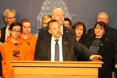 Senator Klein at Press Conference to Address Gun Violence