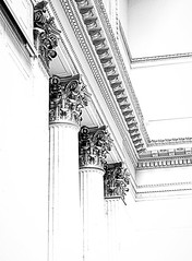 Columns (Demmer S) Tags: columns corinthian greek roman architecture ornate fluted grooved posts pillars column elaborate ornamental decorated acanthusleaves acanthus leaves flowers carved scrolls structural lines corinth renaissance classical opulent lavishness grandeur classic ancient lavish ornamentation adornment historical opulence building inside interior lookingup unionstation indoors 1925 historic waitingroom majestic greathall railwaystation trainstation railroadstation commutertrains adams jackson passengers visitors tourists commuters trains railroad architectural chicago il illinois windycity downtown loop chicagoland bw monochrome blackandwhite