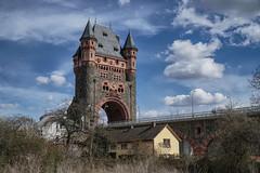 Nibelungenbrücke, Worms Germany (Parchman Kid (Jerry)) Tags: 1897 nibelungenbrücke wormsgermany parchmankid sony a6500 architecture old castle bridge street autobahn nibelungenturm rheinlandpfalz
